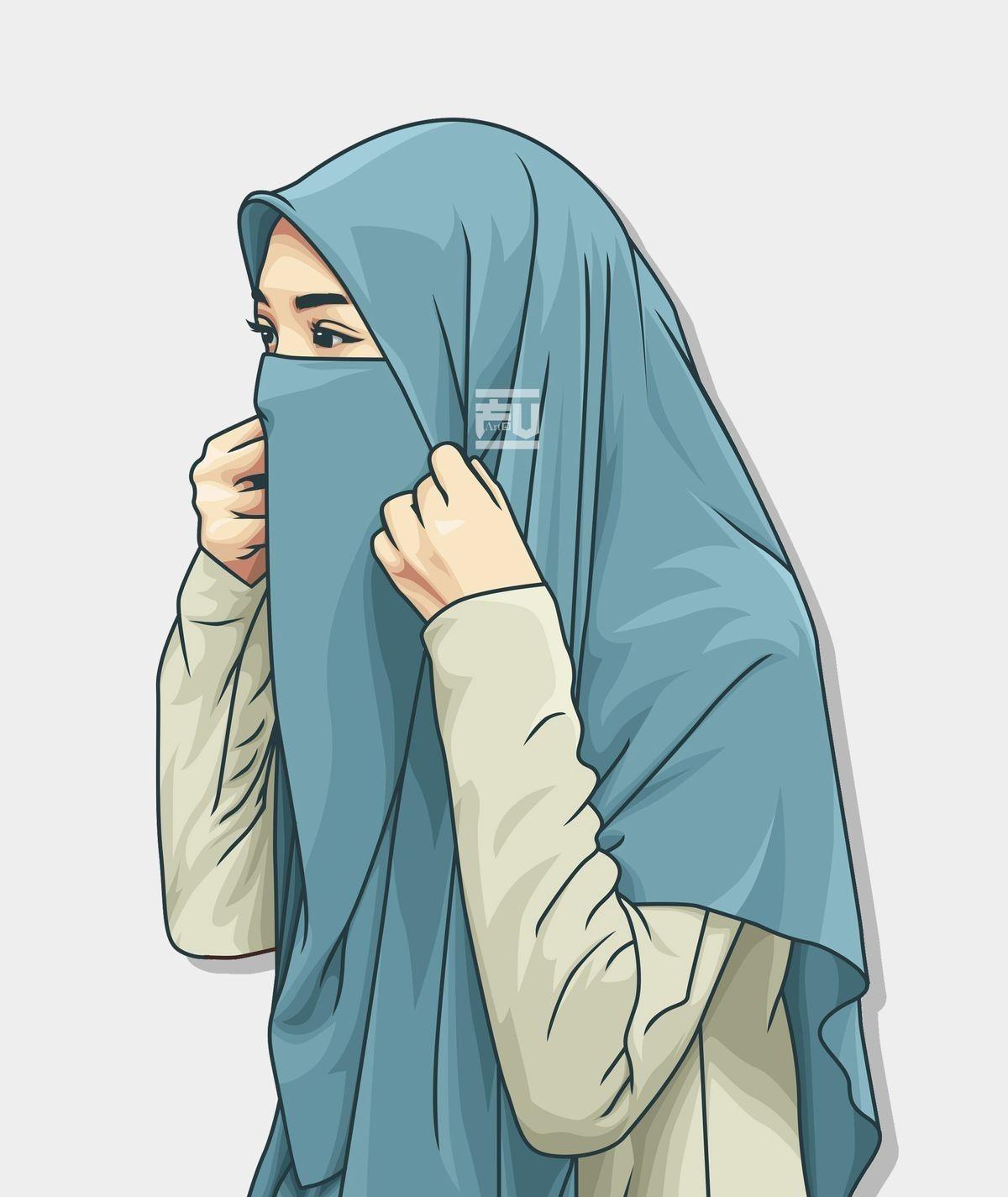 Unduh 850 Gambar Animasi Hijab HD Paling Keren di 2020