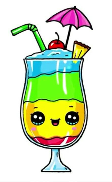 A Nice Smoothie Dessin Kawaii Logo 365 Dessins Kawaii Et