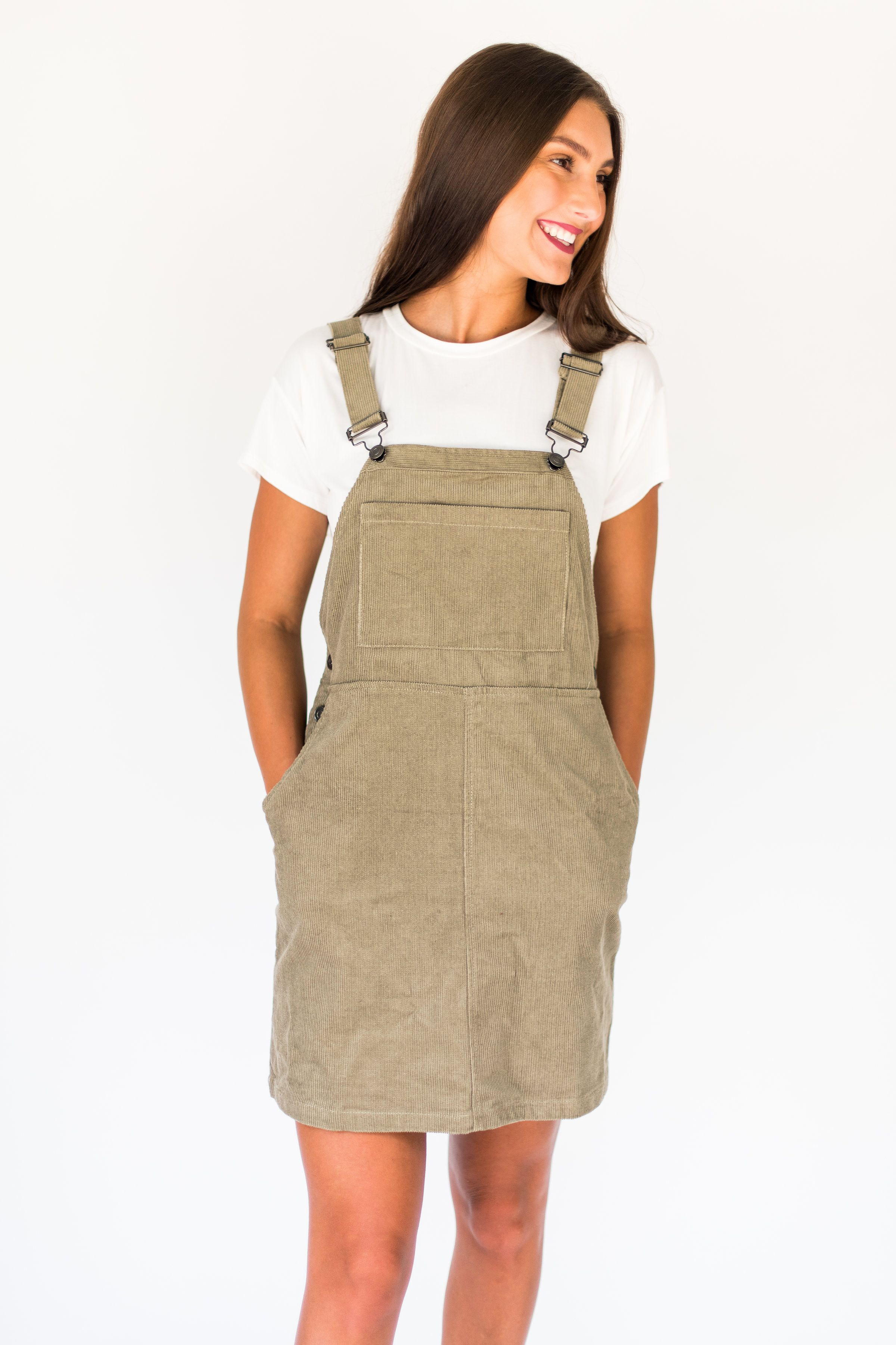 Simple Chic Olive Corduroy Overalls Corduroy Overall Dress Fashion Overall Dress [ 3600 x 2400 Pixel ]