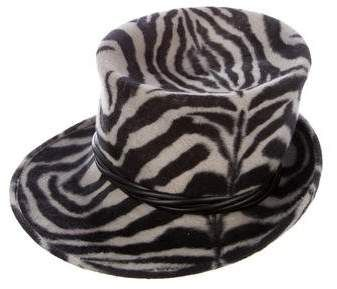 c29b0b1709272 Philip Treacy Animal Print Felt Hat