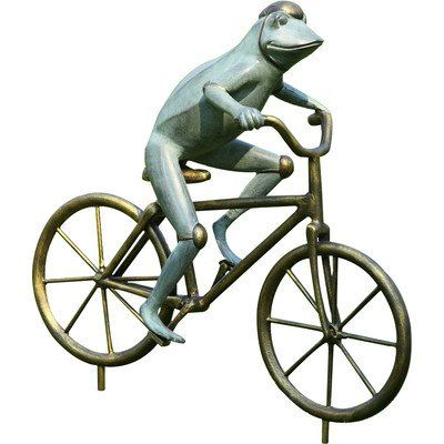 SPI Home Frog On Bicycle Garden Statue * Read More At The Image Link. (