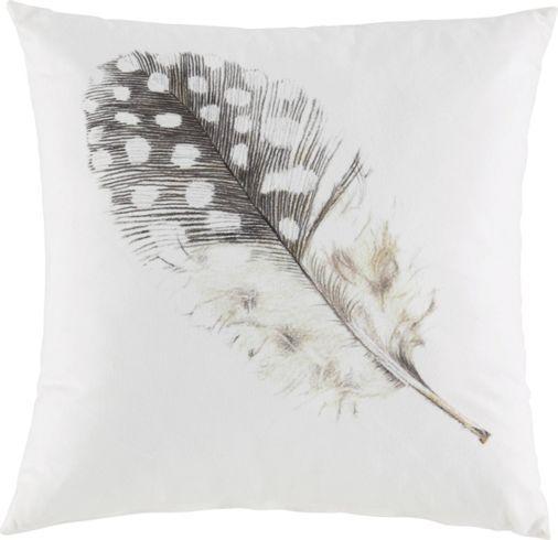 Zierkissen aus 100% Polyester in der Farbe Weiß mit einer Feder. B/L: ca…