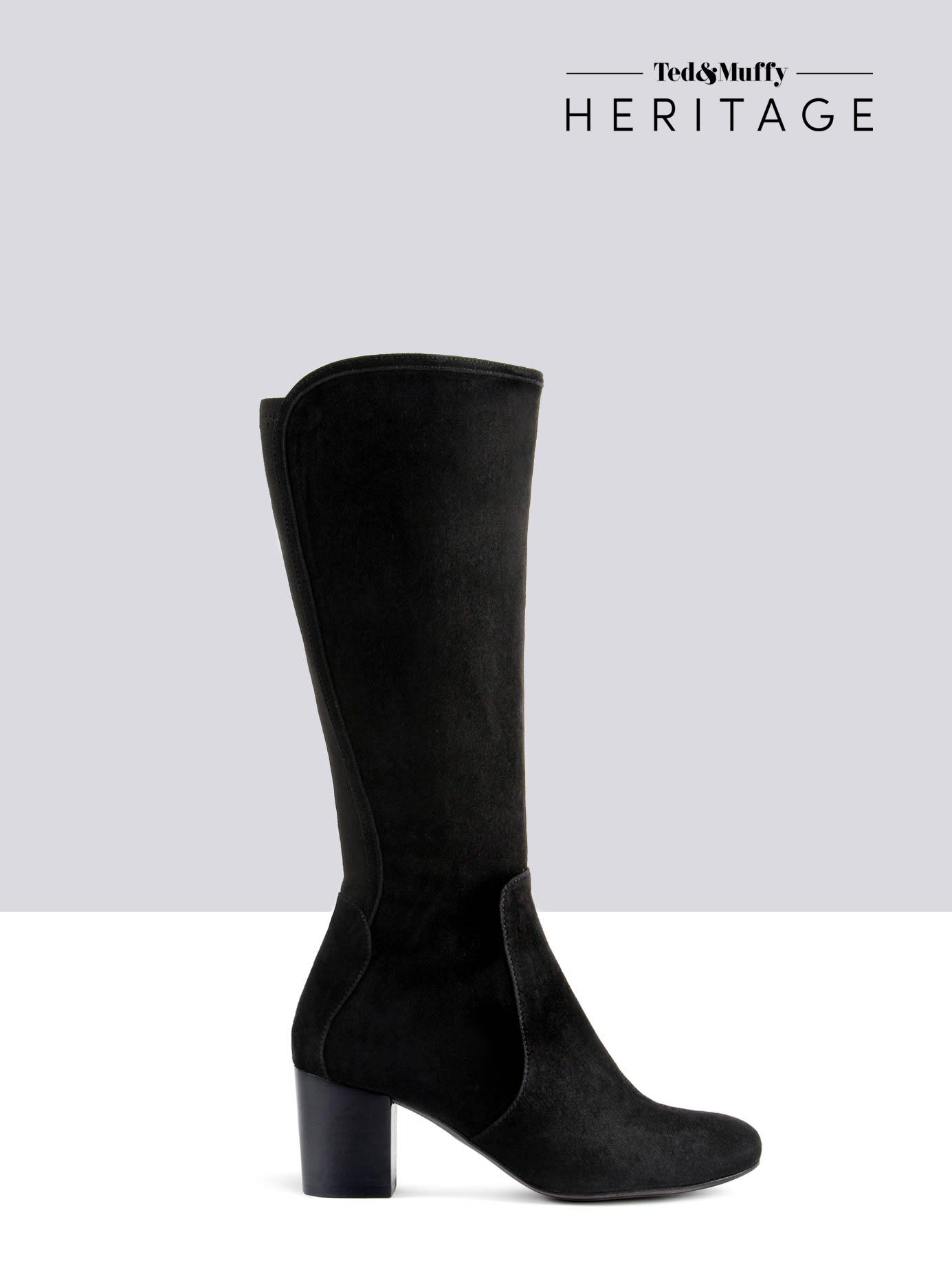 bottes femme daim noir
