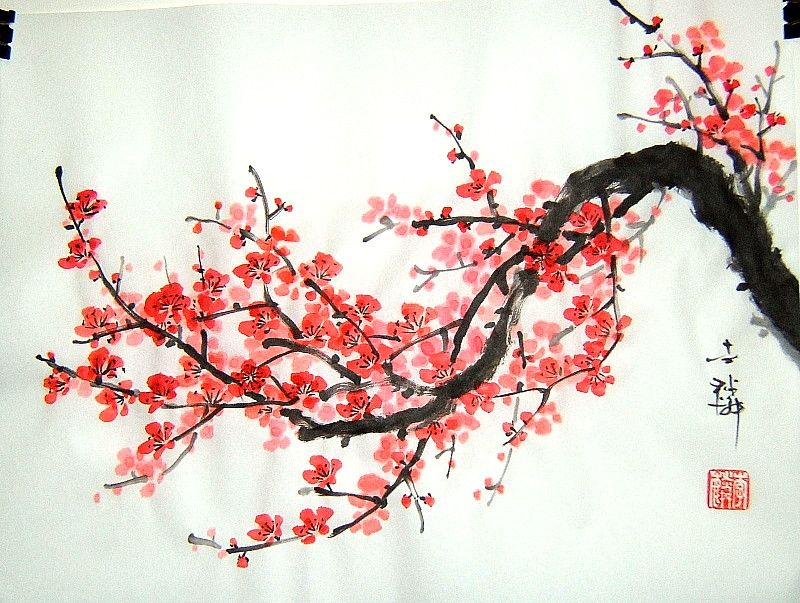 Japanese cherry blossom art art pinterest japanese Japanese cherry blossom tree