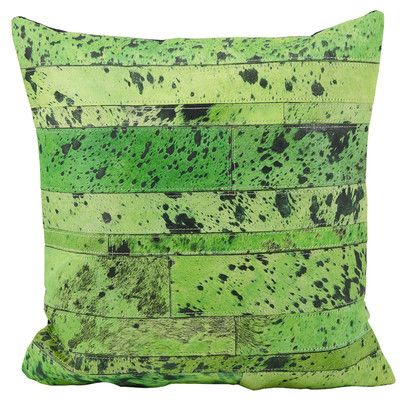 Trent Austin Design Chapelwood Natural Leather Hide Throw Pillow Color: