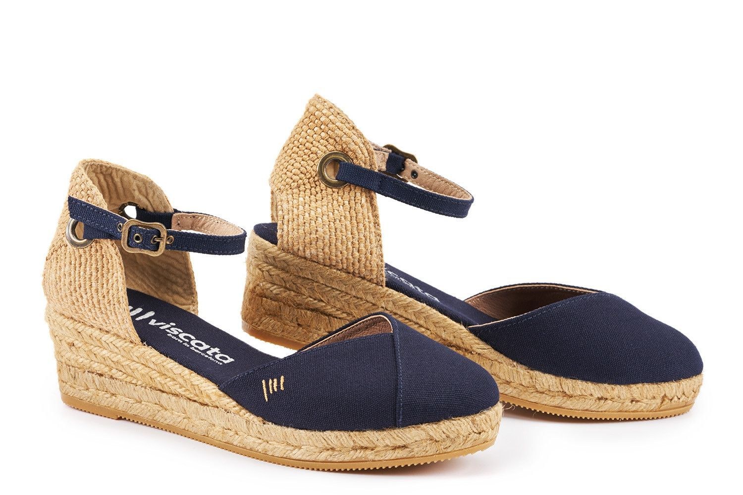 da259747942 Pubol Canvas Espadrille Wedges - Navy