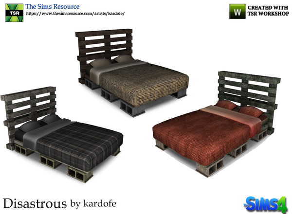 kardofe_ Disastrous_Bed in 2020 Sims 4 beds, Bed
