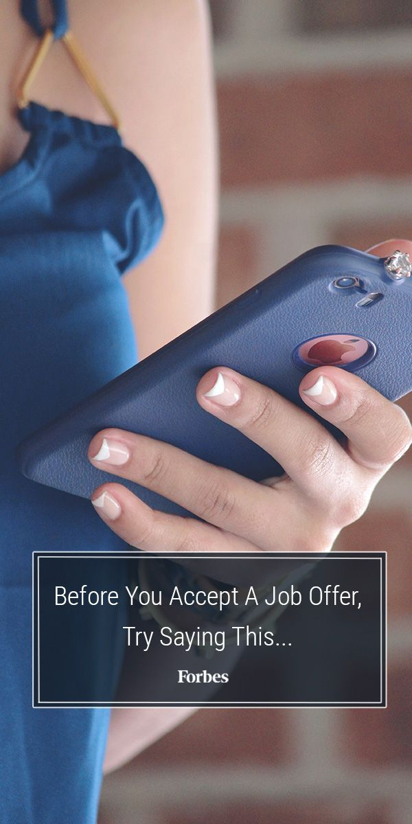 Before You Accept A Job Offer Try