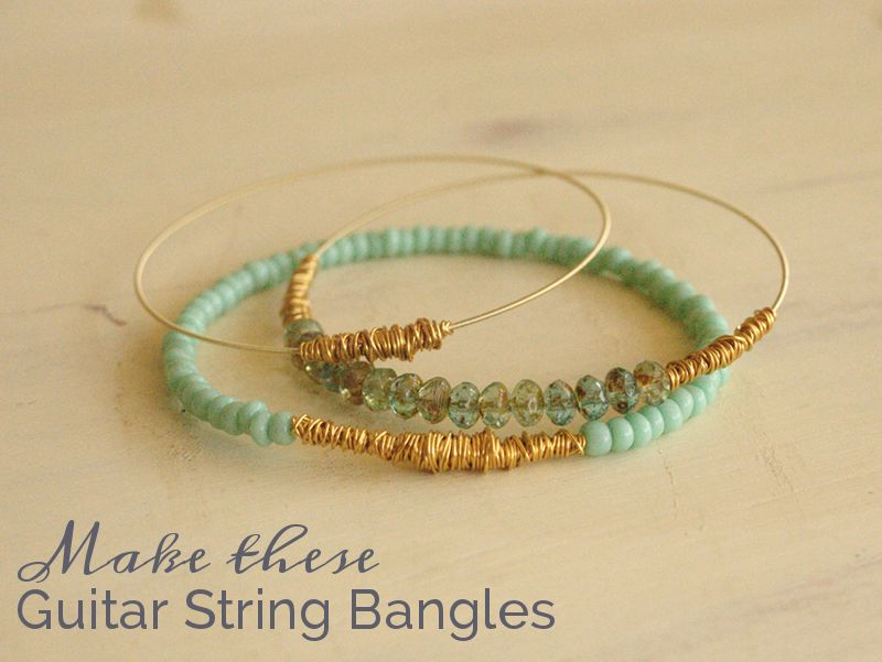 bead it and weep pile of guitar string bangles t jewelry tutorials guitar string jewelry. Black Bedroom Furniture Sets. Home Design Ideas