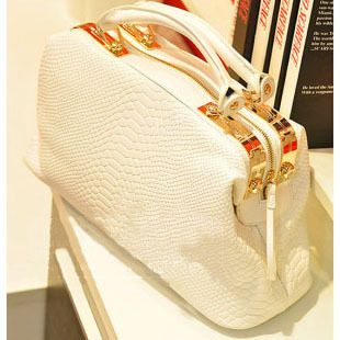 Small Fan Er  Summer t new retro OL commuter crocodile grain in Europe and doctors bag ladies hand shoulder bag