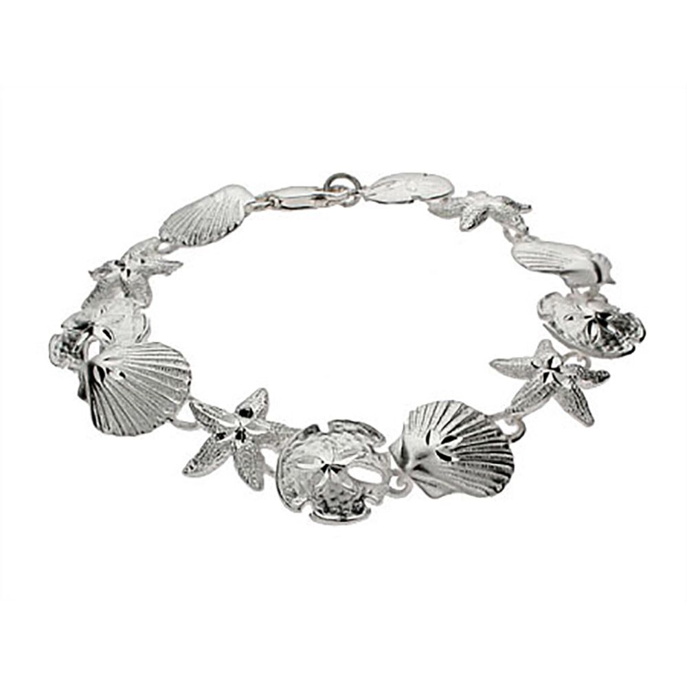 Remind Yourself Of The Beach With Sterling Silver Seas Sand Dollar And Starfish Bracelet Offer A Treasure Trove Collectibles