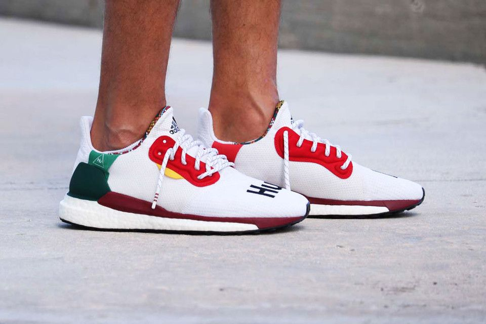 33d474d5eed1b New Pharrell Williams x adidas Solar Hu Glide St Gets Early On-Feet Look