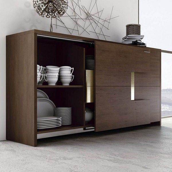 Auxiliar de comedor muebles muebles de comedor - Vitrinas de madera para comedor ...