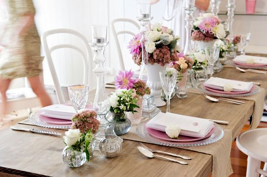 White on White Bridesmaid Luncheon Inspiration