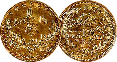 These Are Beautiful Gold Coins From Turkey The Reigns Of Abdul Hamid Ii 25 50 100 250 And 500 Kurush 1876 To 1918