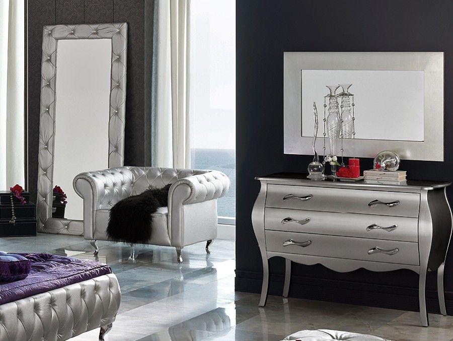 Chic Schlafzimmer Möbel Silber Dekor, Haus deko, Zimmer