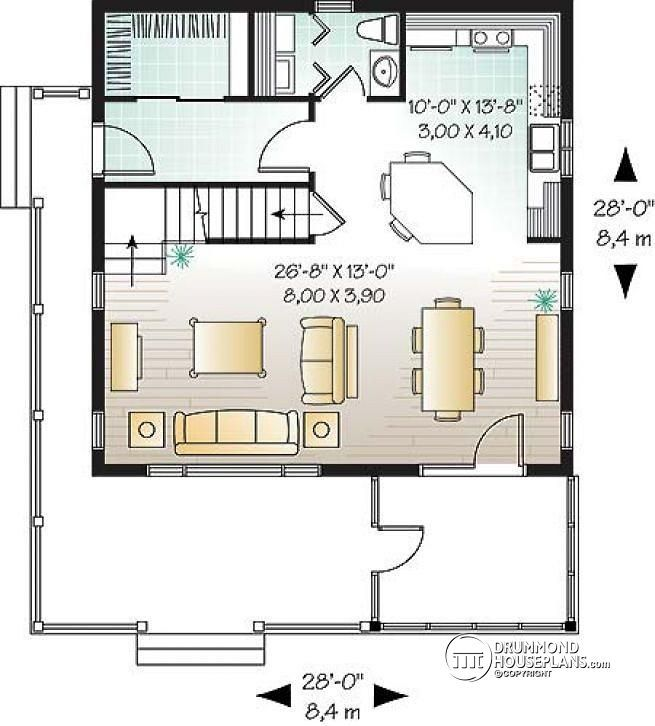 Discover The Plan 3929 Rivendell Which Will Please You For Its 3 Bedrooms And For Its Cottage Chalet Cabin Styles House Plans House Floor Plans Cabin House Plans