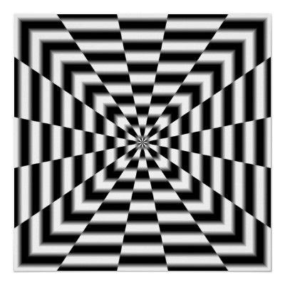 Warp Tunnel Poster Zazzle Com Illusion Art Optical Illusion