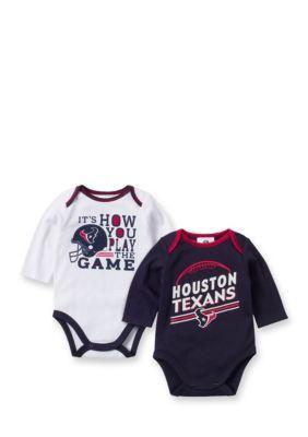 Gerber Houston Texans 2-Pack Long Sleeve Bodysuit Set - Multi - 6 - 12 3369b2e17