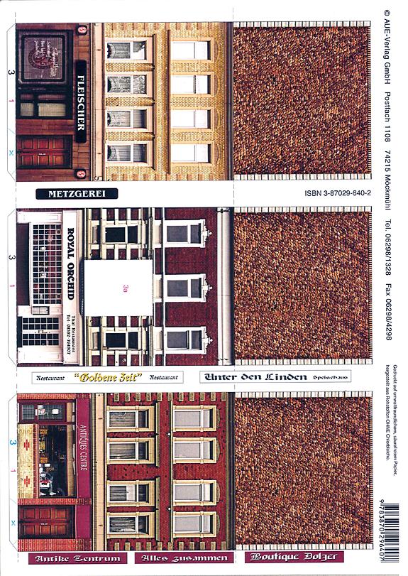 Let S Make An Old Town Set 3 Papermodelkiosk Com Paper