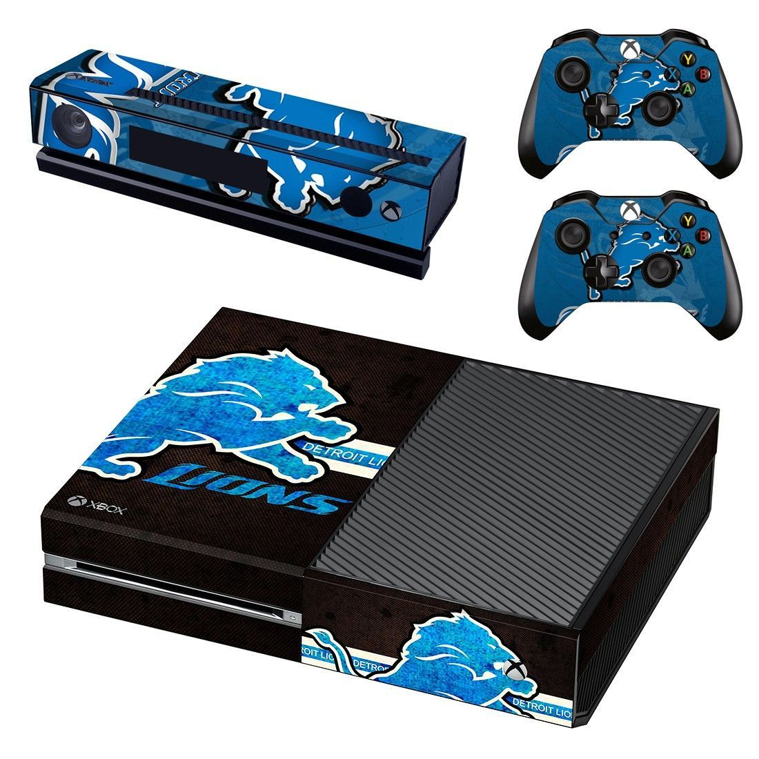 Detroit Lions Skin Decal For Xbox One Console And Controllers Xbox One Skin Xbox One Console Detroit Lions
