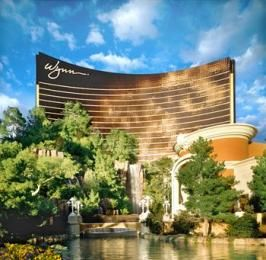 Wynn Las Vegas. 22 dining experiences, Ferrari & Maserati dealership, intimate aquatic theater performance in-the-round, casino, golf course, spa & fitness facility, multiple pools w gardens, night lounges, boutiques & shops, 2716 guest rooms. Virtuoso recommended. Tip: at the on-site Le Reve Theater (the 1st circle theater) the best seats are the higher ones. Floor to ceiling windows w view of Strip, sanctuary, oasis.