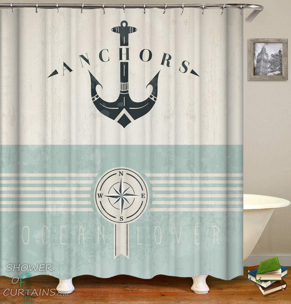 Nautical Life Lover Shower Curtains Design Beautiful Print