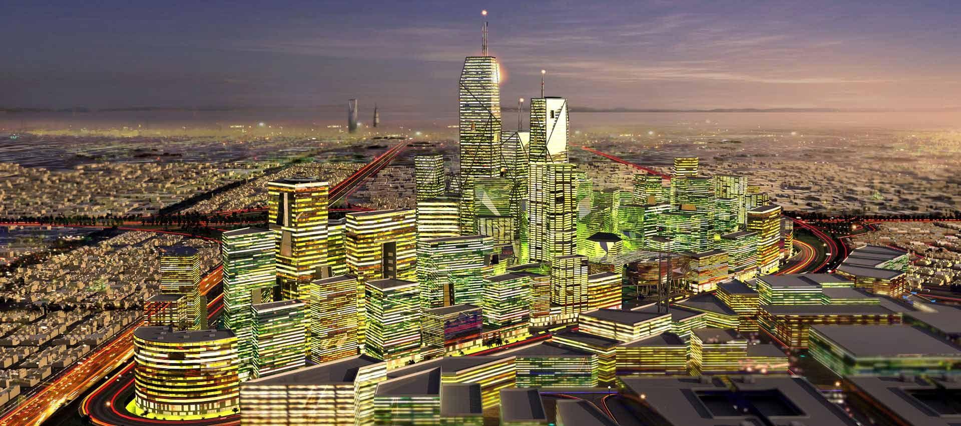 King Abdullah Financial District Riyadh Henning Larsen Architects Financial District Architecture Presentation City Design