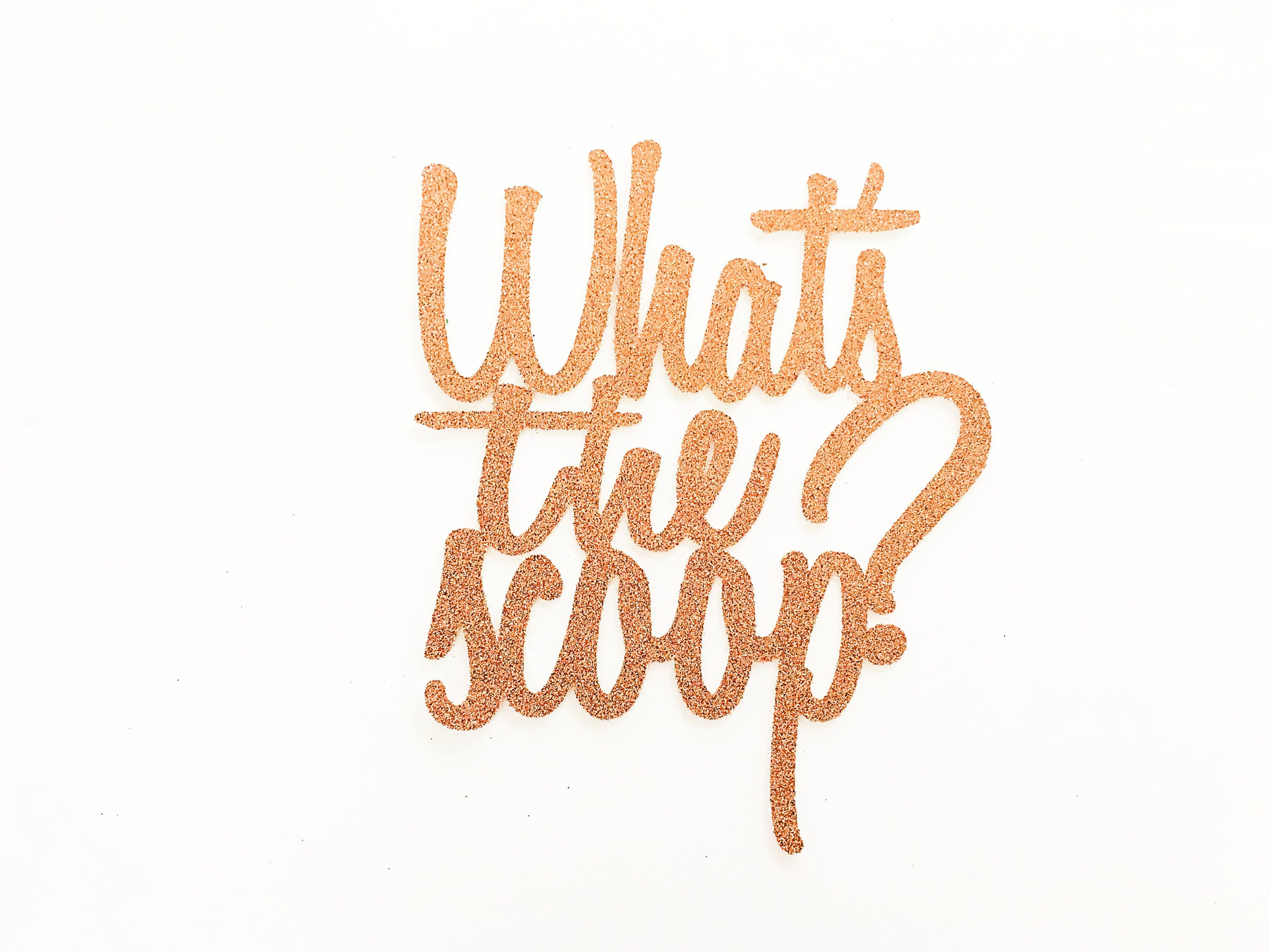 What S The Scoop Cake Topper What S The Scoop Gender Etsy Gender Reveal Gender Reveal Decorations Gender Reveal Cake Topper