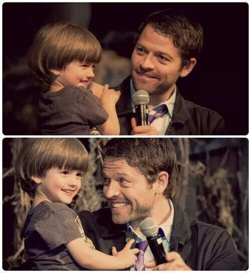 They are sooo adorable! Misha and his son, West