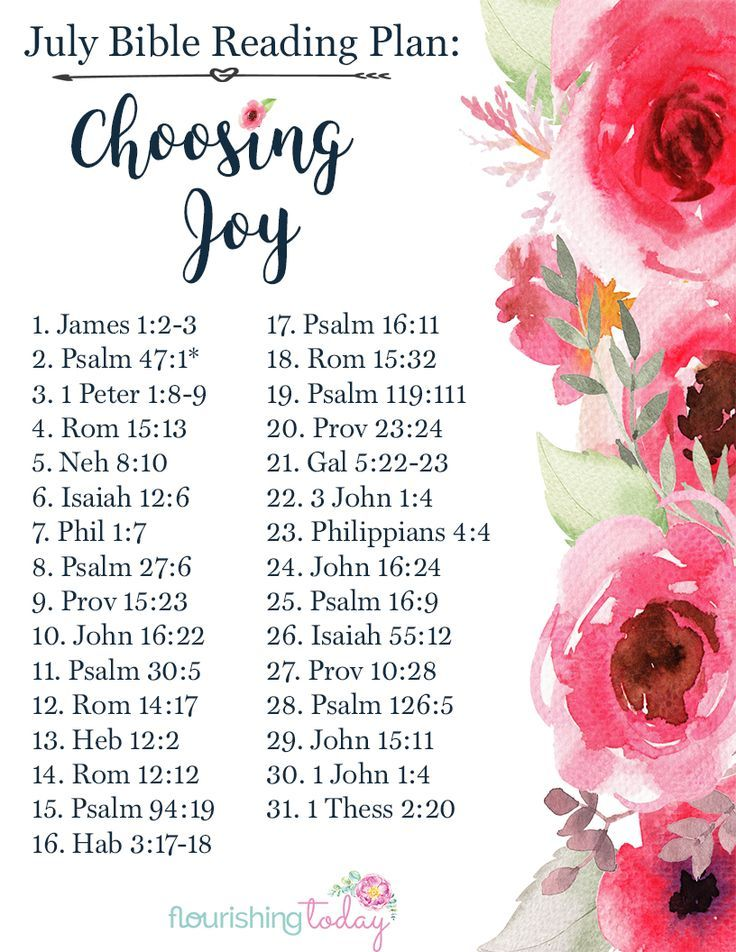 Does life have you feeling down? Most of the time we have to choose joy, not just expect to feel it. Join us for a free Bible Reading Plan on Choosing Joy!