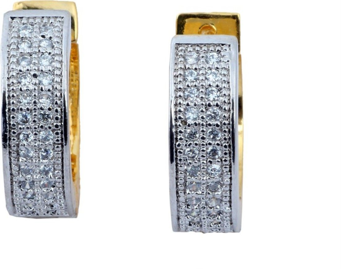 Waama Jewels Party Time Cubic Zirconia Alloy Hoop Earring Price in ...