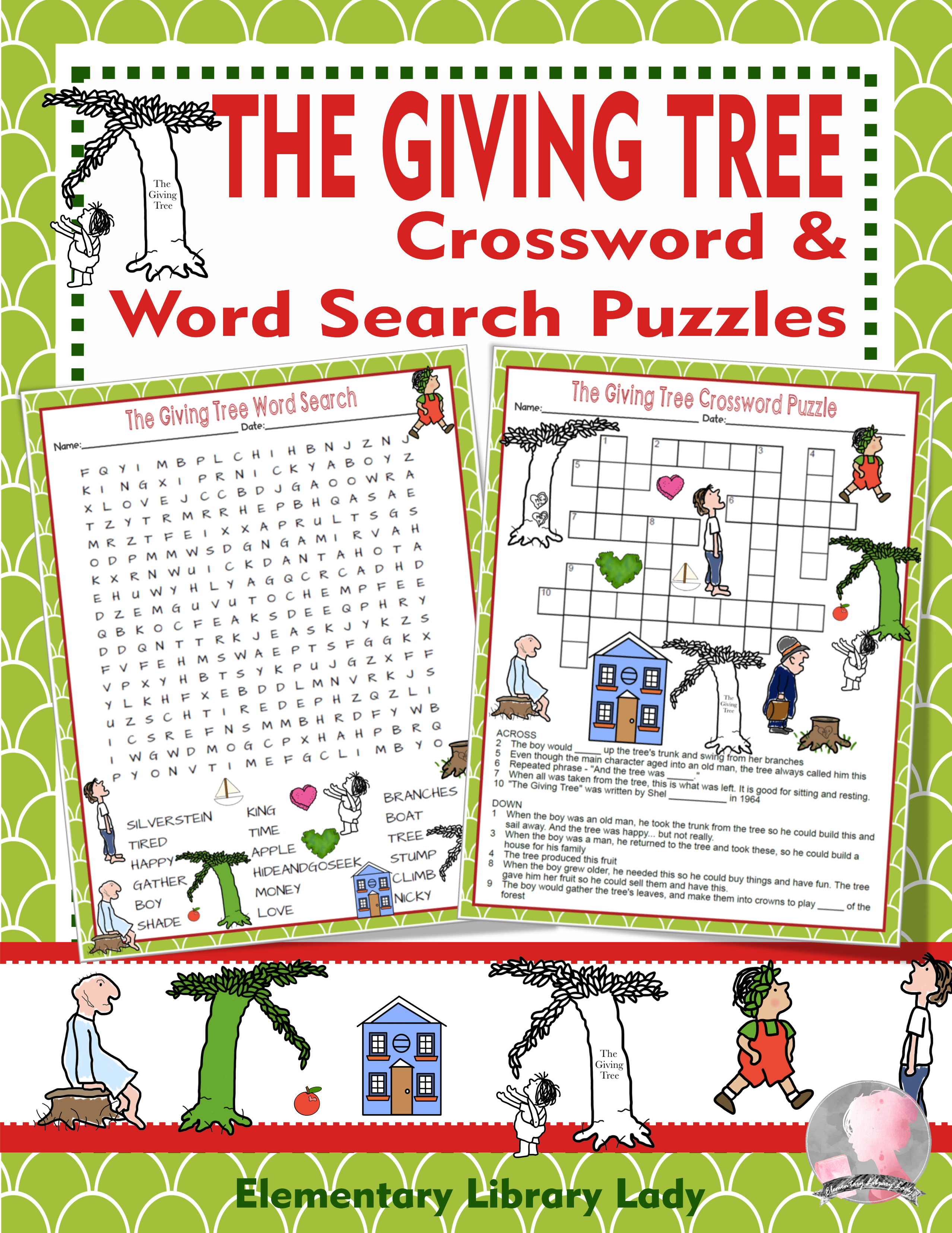 The Giving Tree Activities Shel Silverstein Crossword