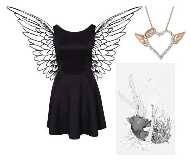 """""""Fallen Angel"""" by tbhvicky ❤ liked on Polyvore"""
