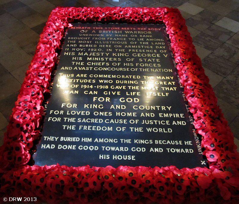 The Tomb of the Unknown Warrior.   Blogging while allatsea