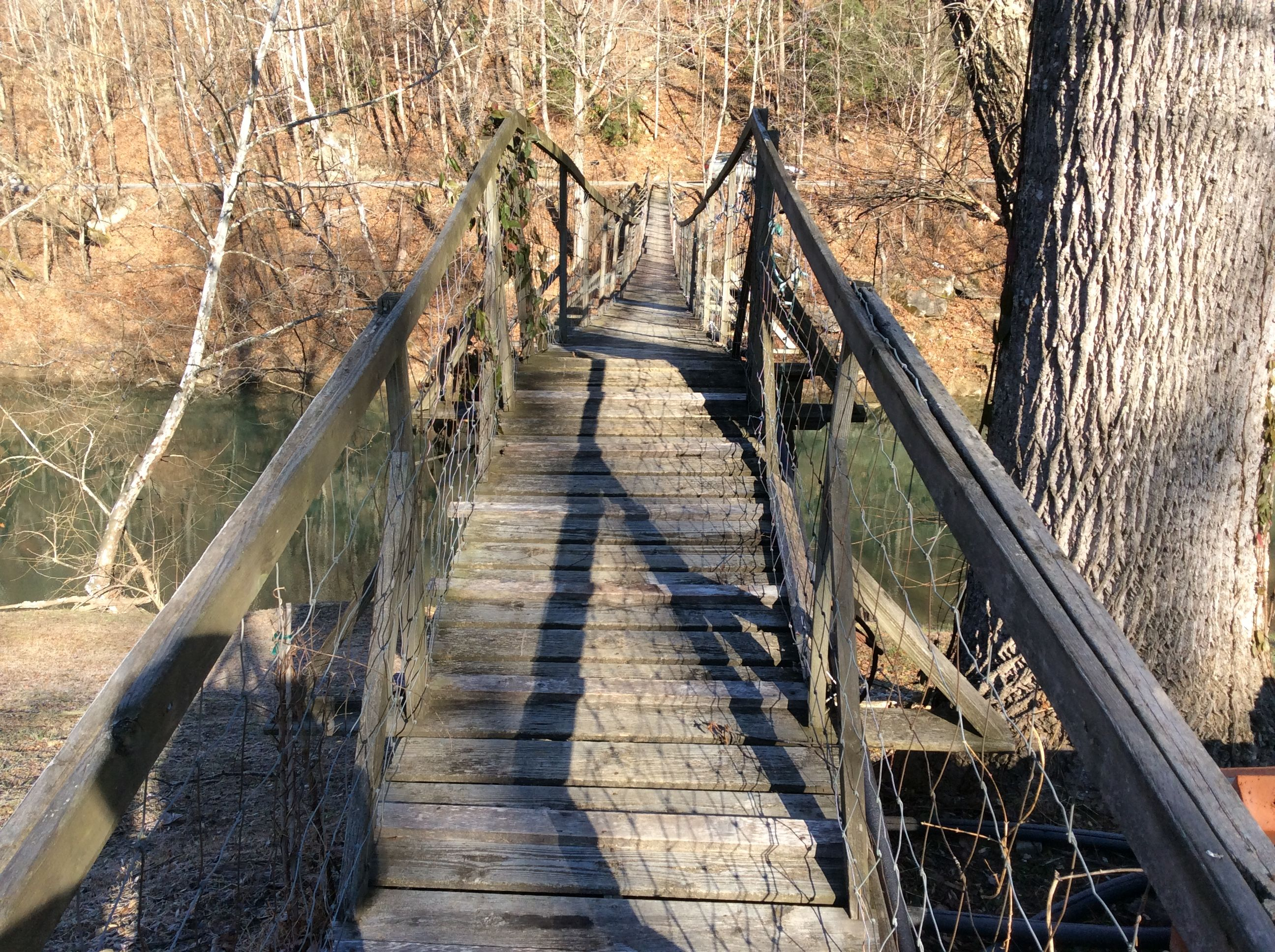 Swinging Bridge across Middle Fork of KY River, Photo