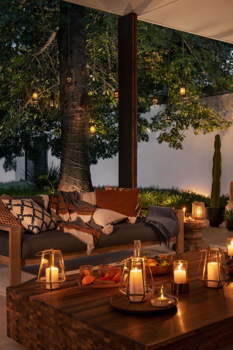 Metal Glass Tea Light Holder Backyard Furniture Backyard Design Backyard Decor
