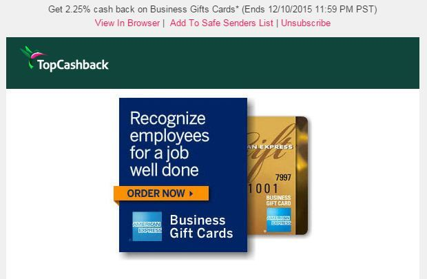 American Express gift cards up to 2.25% cashback TODAY ONLY ...