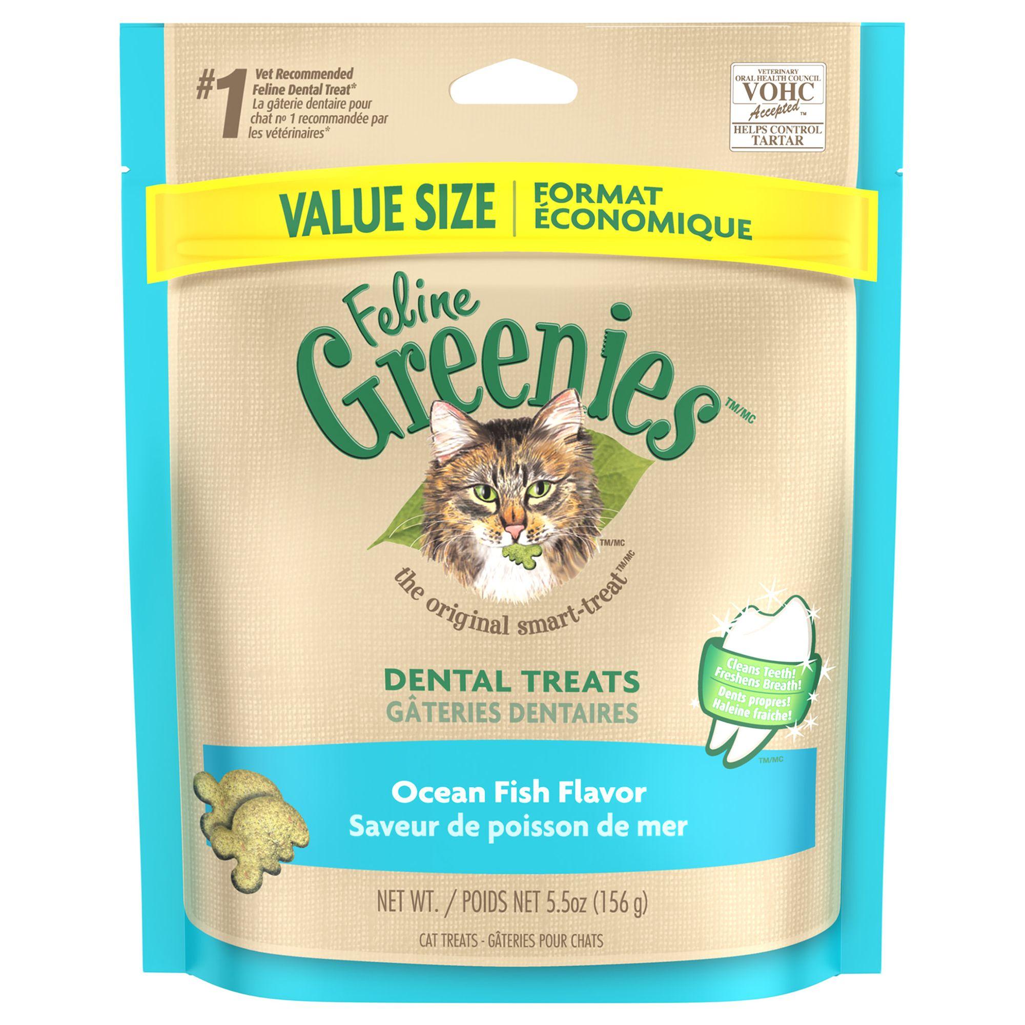 Feline GREENIES® Dental Cat Treat Ocean Fish Cat
