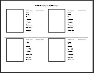 God Goddess Trading Card Template Free Download Trading Card