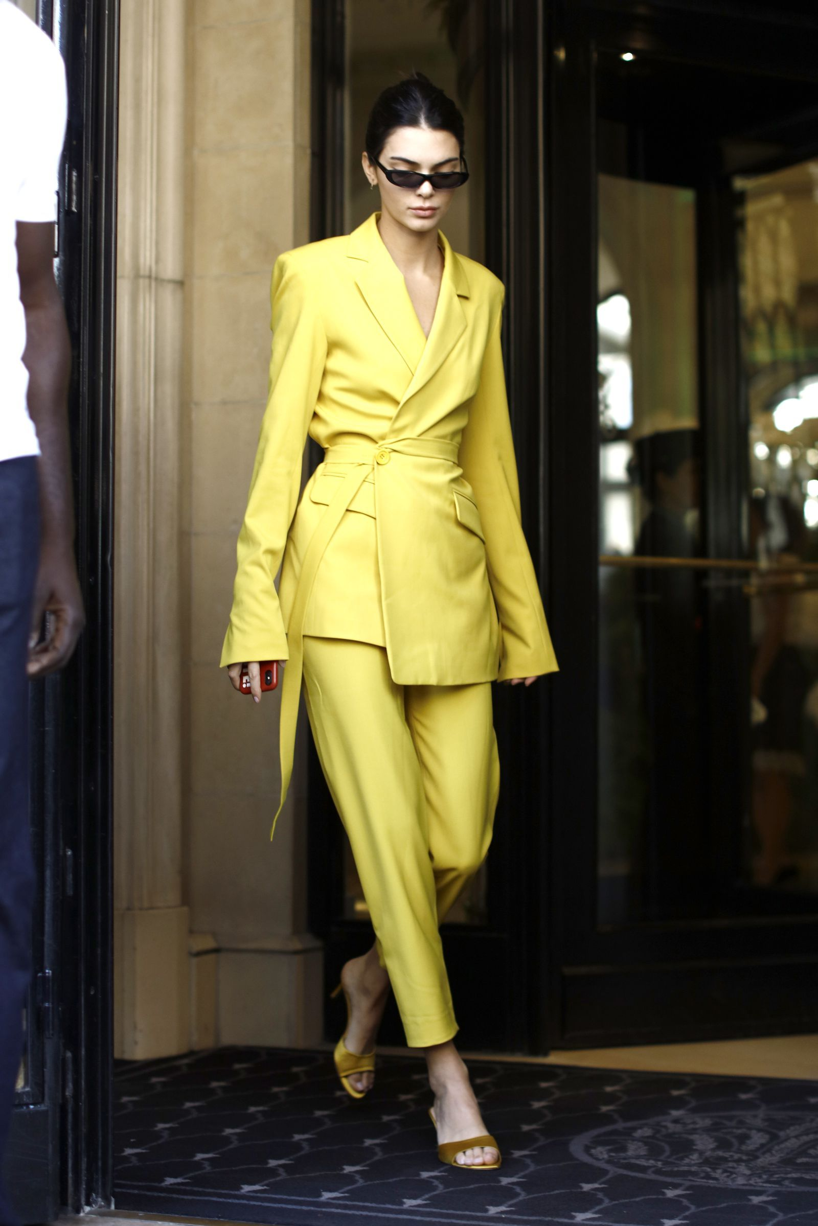 Photo of Kendall Jenner Heads To Burberry Fitting Wearing 'Matrix'-Inspired Outfit At LFW