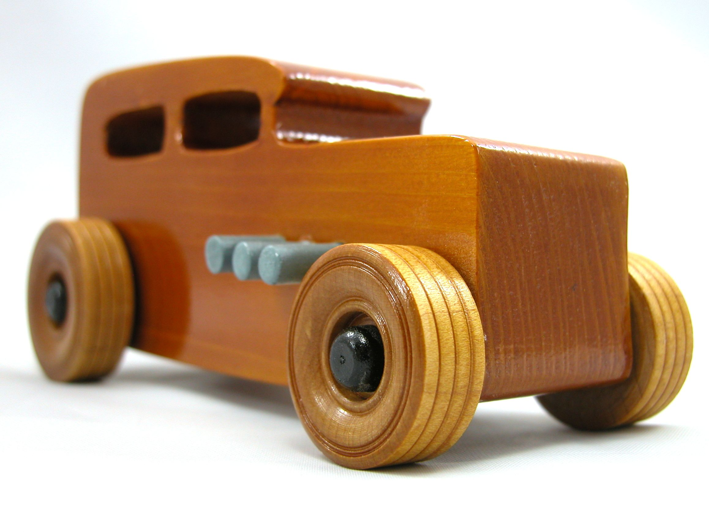 Handmade Wooden Toy Car Hot Rod 1932 Ford Sedan Tudor Fordor