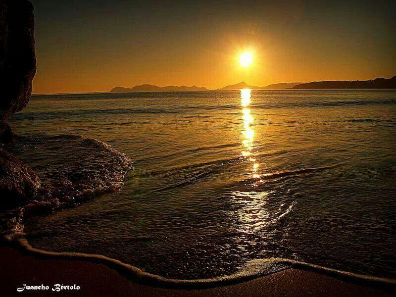 Playa de nerga.  Cangas.  Pontevedra.  Galicia