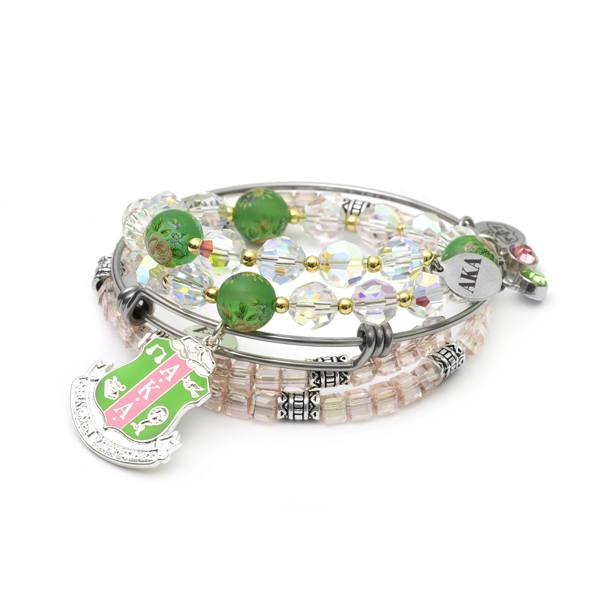 AKA Swarovski Shield Wire Bracelet Set
