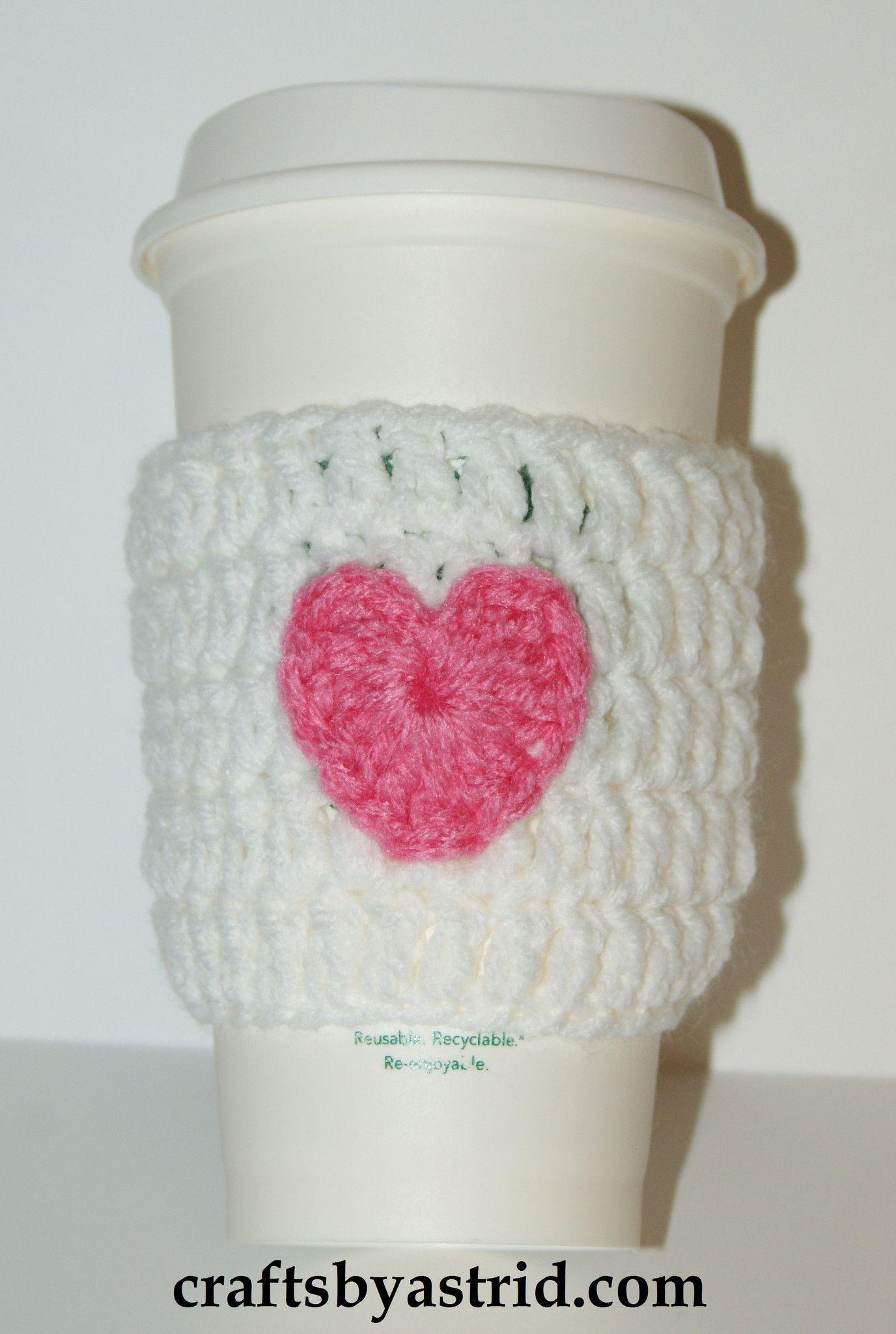Pink Heart Crochet Cozy | Puntadas y Cocinas
