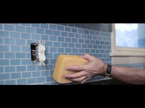 How To Install A Glass Tile Kitchen Backsplash   YouTube
