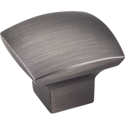 """Manufacturer:  Jeffrey Alexander  #431                      Category:  Classic Square Knobs    Material: Zinc   Style: Transitional   Collection:  Sonoma     View entire Collection Sonoma         Dimensions:           Length: 1-3/16""""   Projection: 15/16"""" (24mm)        1 3/16"""" Overall Length Zinc Diecast Cabinet Knob. Packaged with one 8 32 x 1 1/8"""" screw. Finish: Brushed Pewter One 8-32 Screw (Included)          While the Transiona..."""