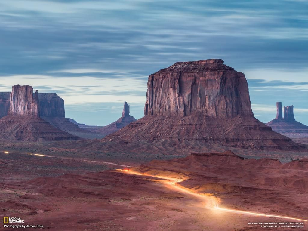Twilight breaks over Utah's Monument Valley in a shot submitted to the Traveler Photo Contest http://on.natgeo.com/1d3oKlh