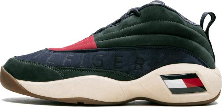 92b74c11b Fila TH BBall Sneaker LUX Forest Navy  KITH X TOMMY HILFIGER  in ...