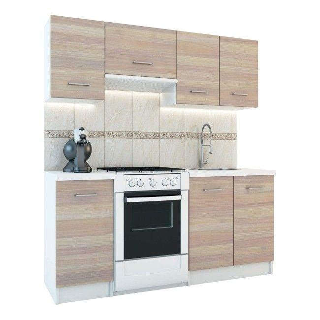 Zestaw Mebli Kuchennych Rosa 1 8 M Dab Sonoma Zestawy Meblowe Meble Kuchenne Meble Urzadzanie Produkty Kitchen Appliances Home Decor Decor
